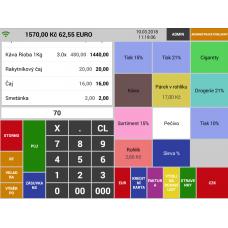 Aplikace MINI pokladna Secondary Sunmi
